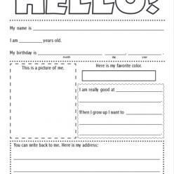 FREE Printable Pen Pal Letter Template