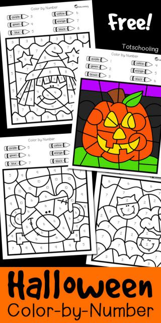 FREE Halloween Color by Number
