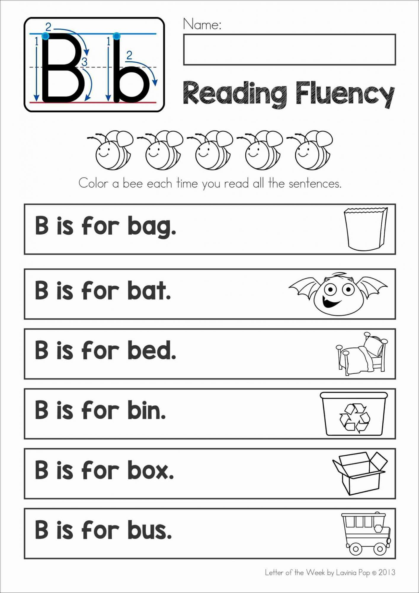 Phonics Letter Of The Week B Free Printable Homeschool