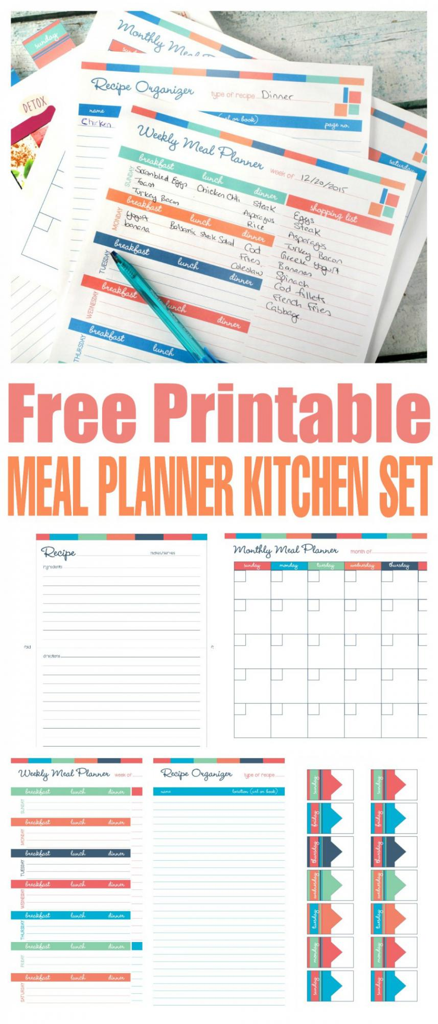 Free Printable Meal Planner Kitchen Set Homeschool