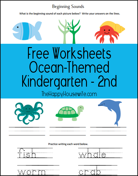 Free Ocean Unit Study Worksheets and Printables ...